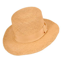 Givenchy Numbered Couture Runway Worn Natural Straw Hat