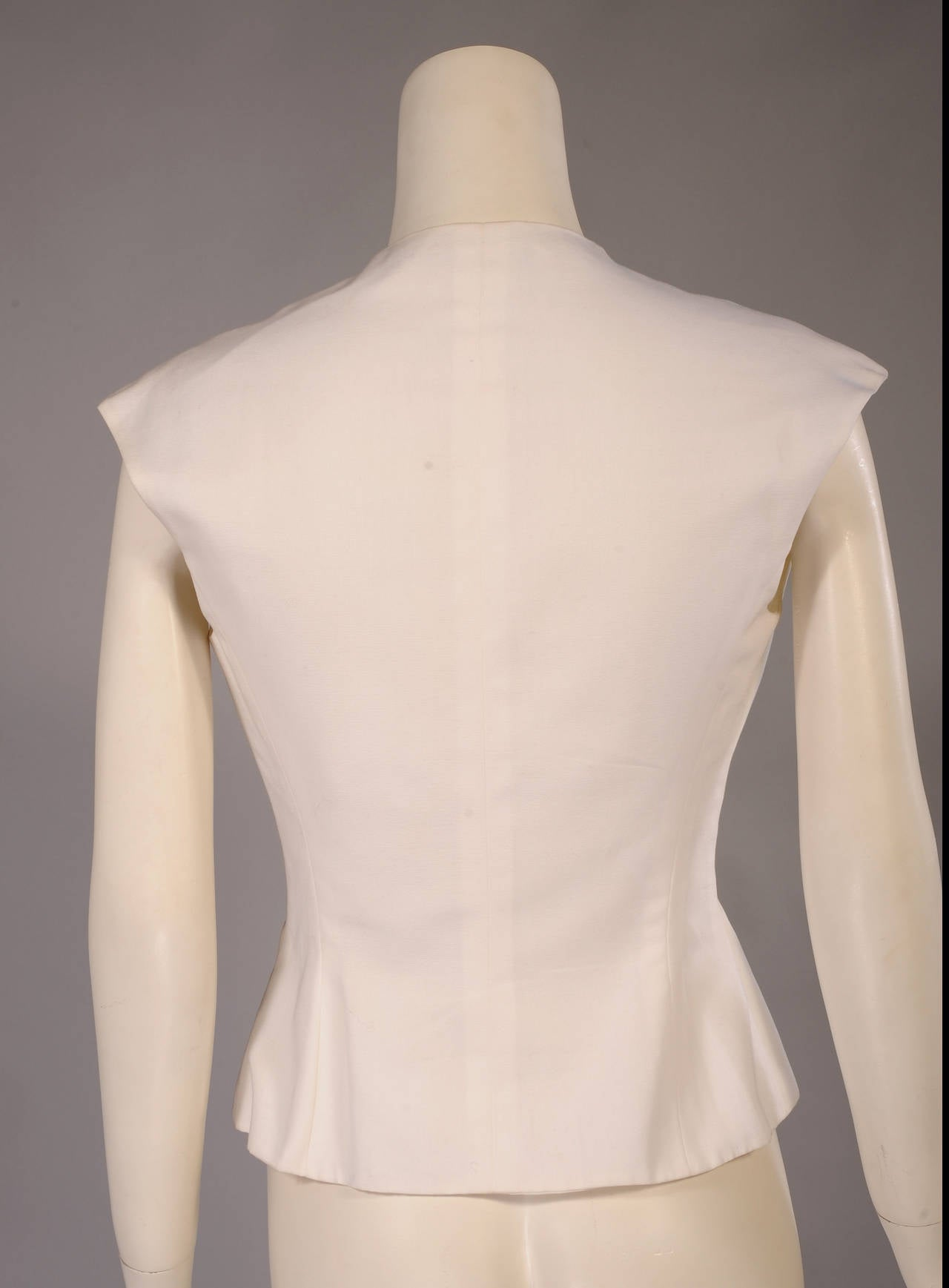 Lanvin White Cotton Sleeveless Top 2