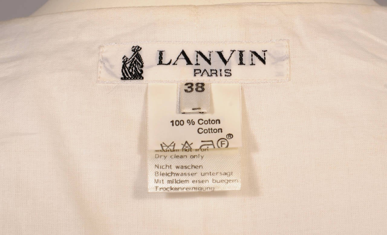 Lanvin White Cotton Sleeveless Top 3