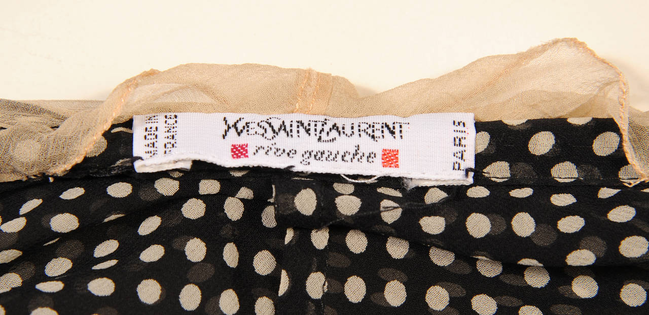 Yves Saint Laurent Polka Dot Chiffon Halter Top 4