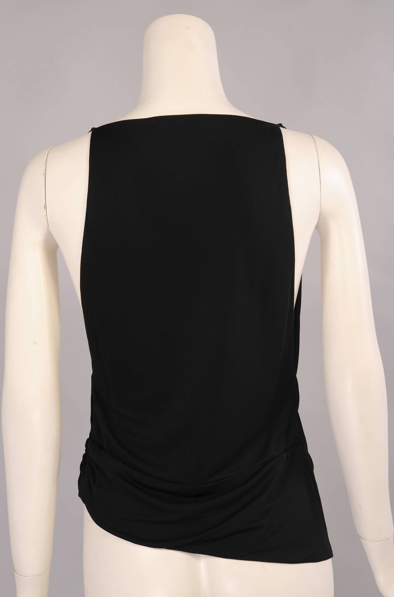 Madame Gres Draped Black Jersey Top 3