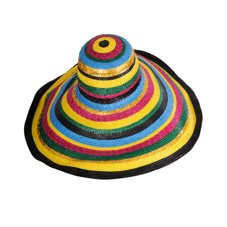 Givenchy Haute Couture Colorful Broad Brimmed Hat