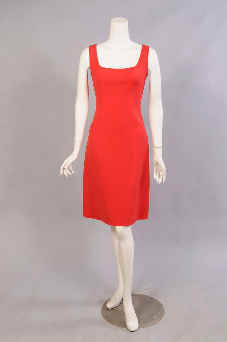 Oscar de la Renta Red Sheath Dress 2