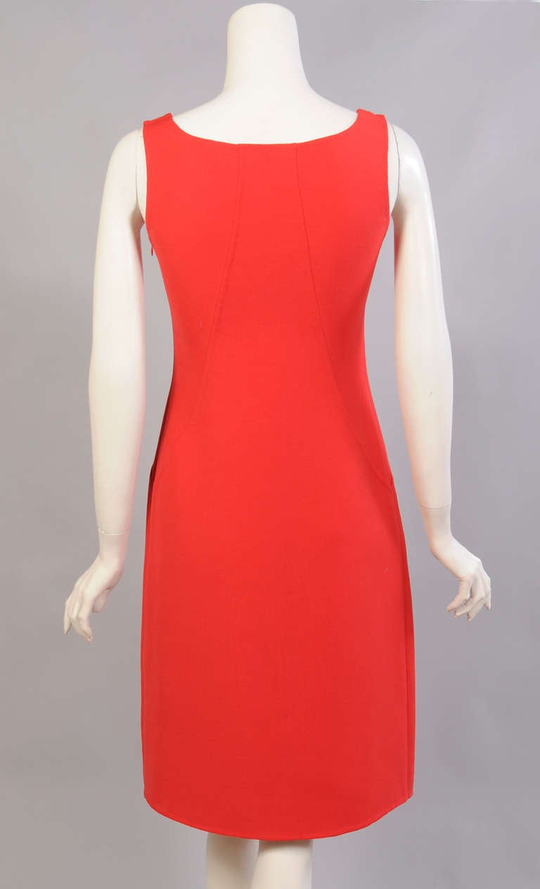 Oscar de la Renta Red Sheath Dress 4