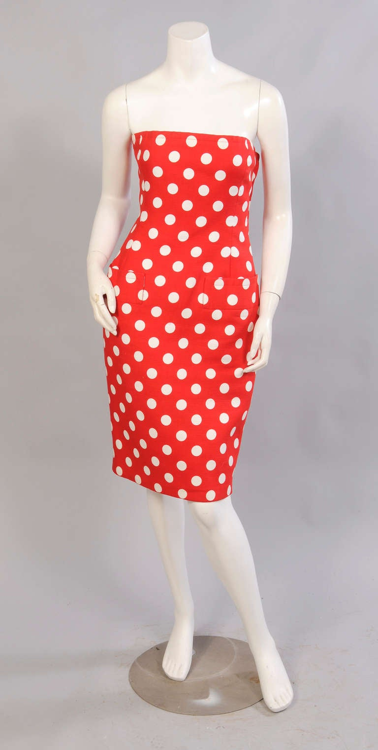 Givenchy Haute Couture Strapless Polka Dot Dress & Jacket 2