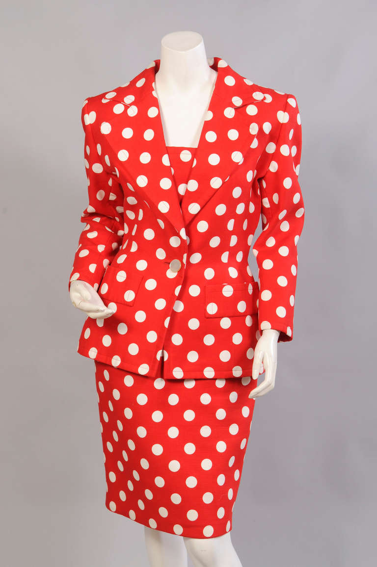 Givenchy Haute Couture Strapless Polka Dot Dress & Jacket 4