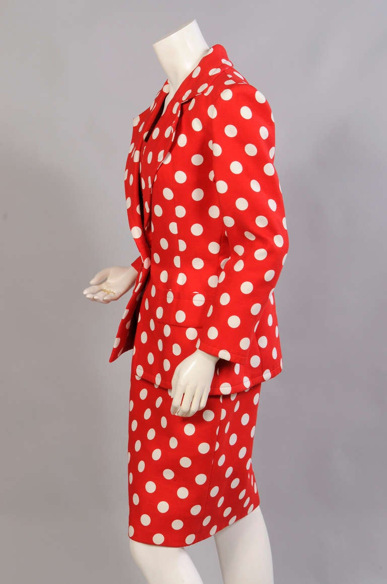 Givenchy Haute Couture Strapless Polka Dot Dress & Jacket 5