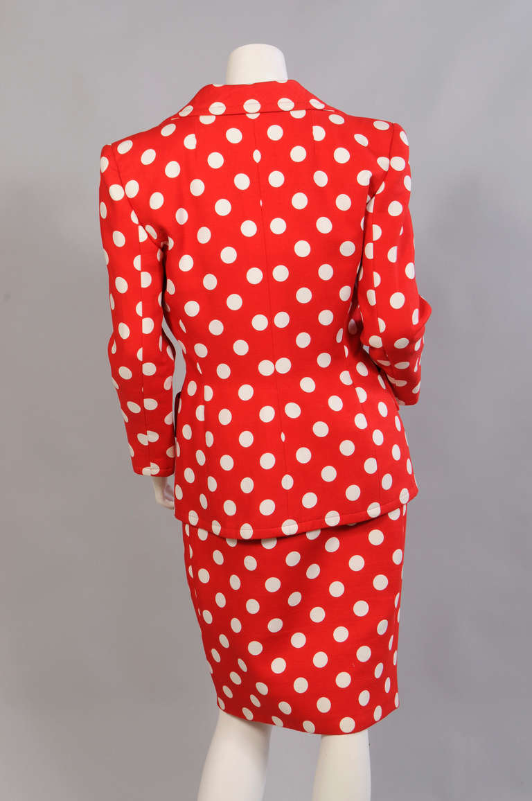 Givenchy Haute Couture Strapless Polka Dot Dress & Jacket 6