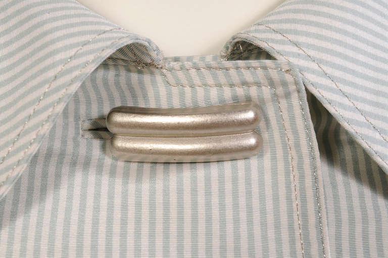 Geoffrey Beene Pale Green & White Striped Silk Dress & Jacket 6
