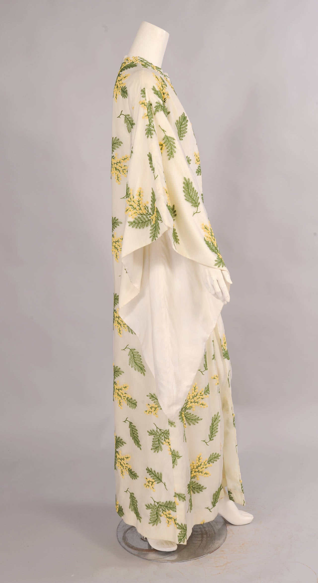 Bergdorf Goodman Lavishly Embroidered Silk Organza Coat 2