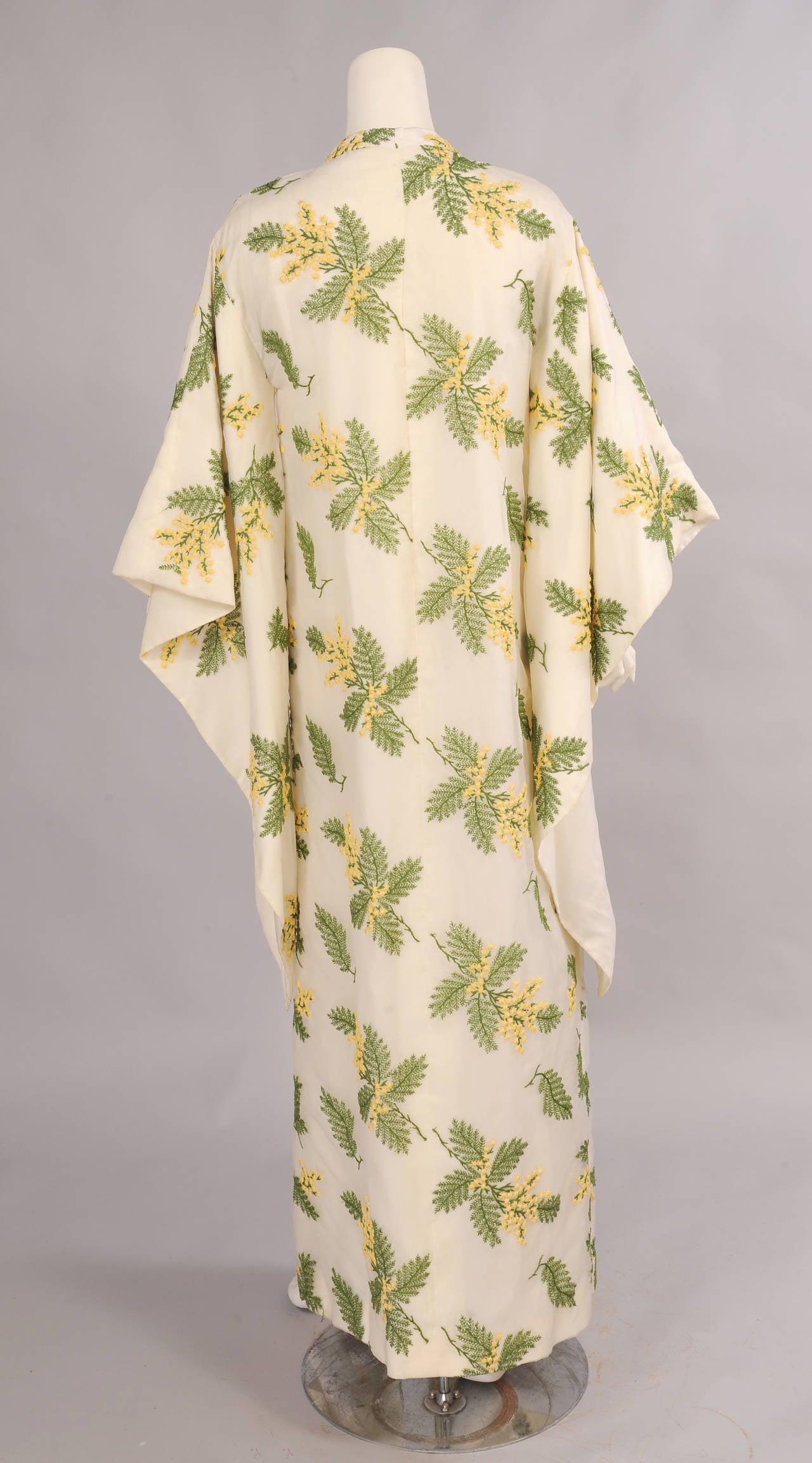 Bergdorf Goodman Lavishly Embroidered Silk Organza Coat 3