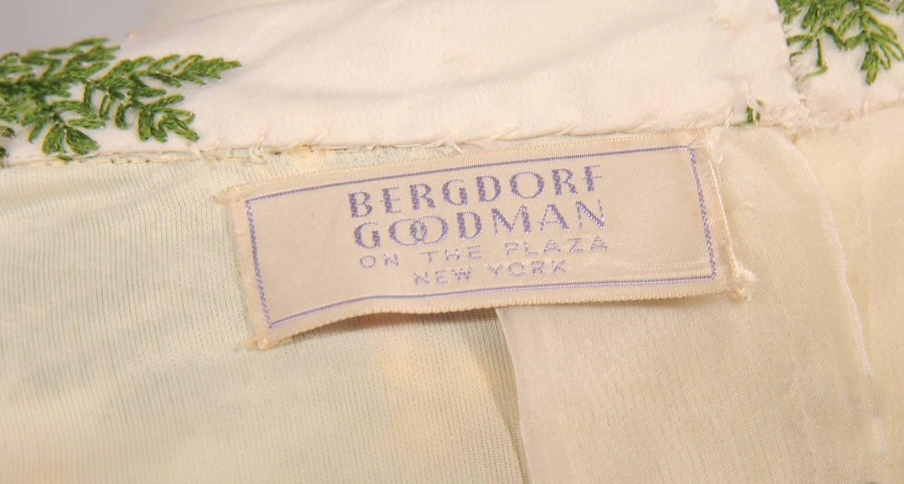 Bergdorf Goodman Lavishly Embroidered Silk Organza Coat 4