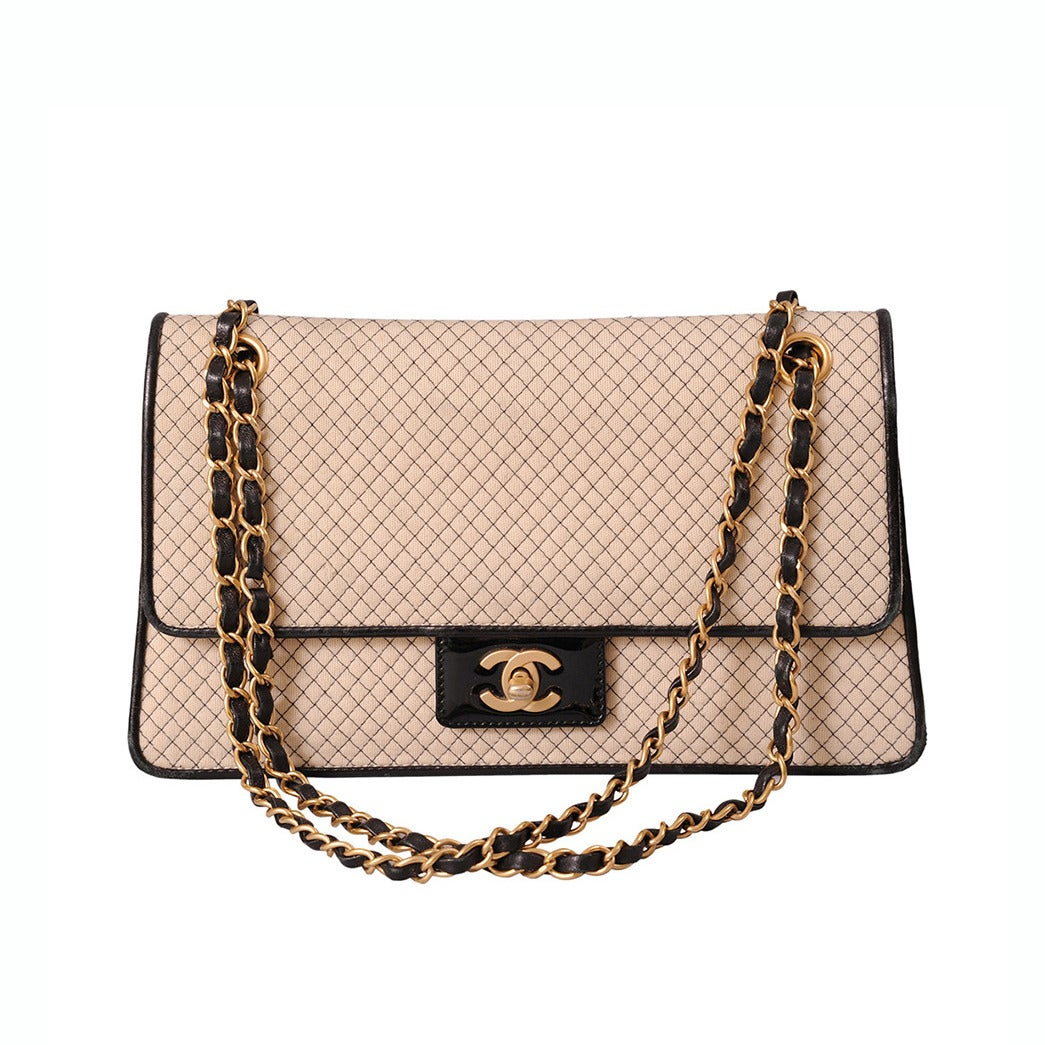 2087515abf13 Chanel Jersey and Patent Leather 2.55 Flap Bag at 1stdibs