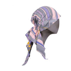 Chanel Cotton Plaid Summer Turban, in Original Box