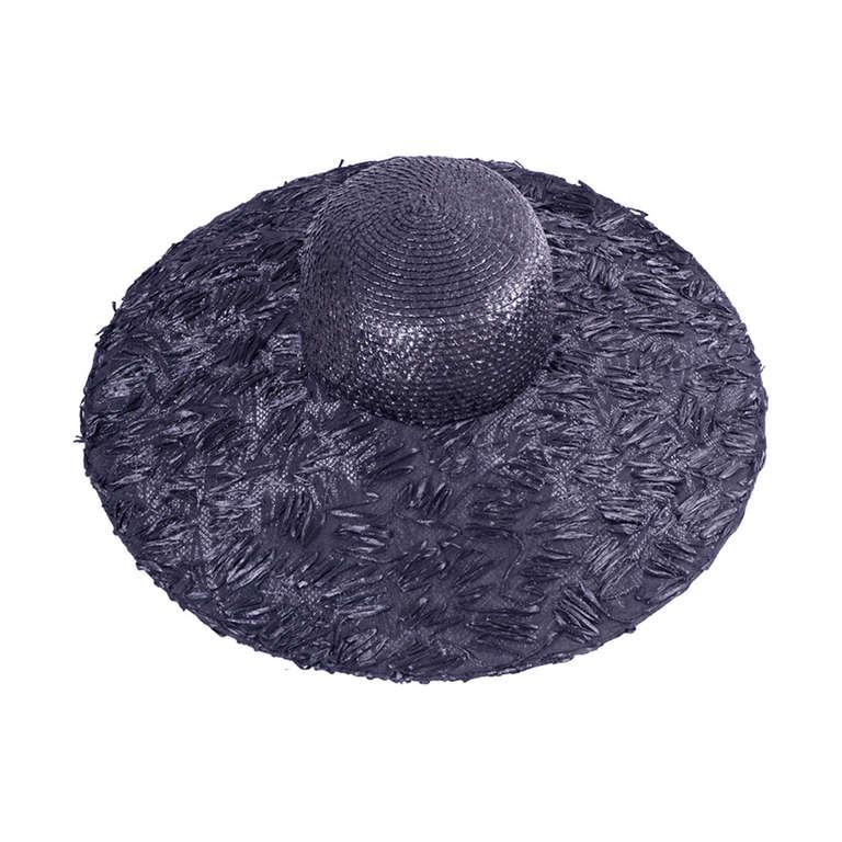 Isabel Canovas Oversized Black Straw Hat 1