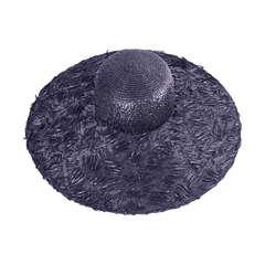 Isabel Canovas Oversized Black Straw Hat