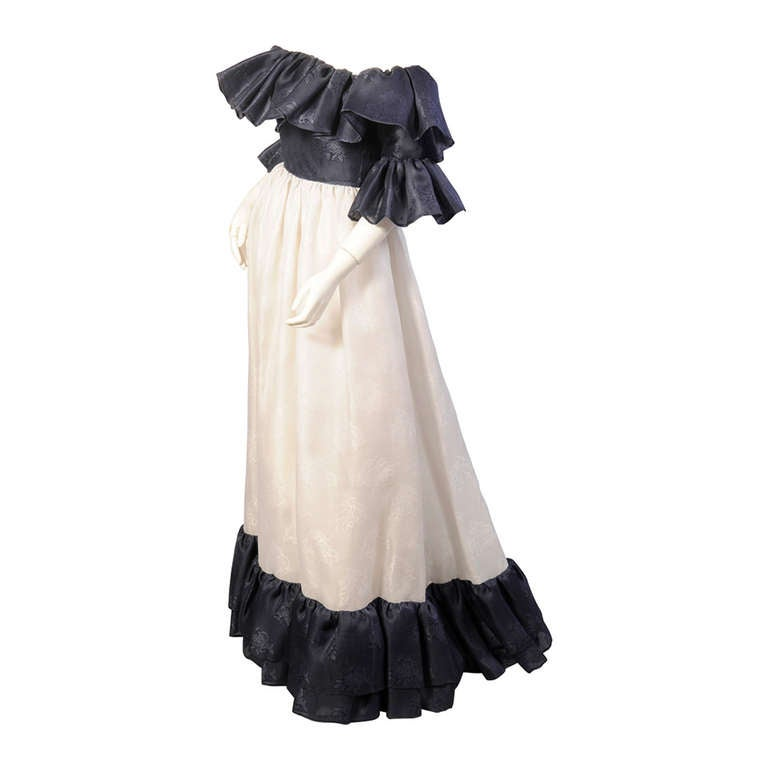 Givenchy haute couture midnight blue and white silk gazar for Haute couture dress price