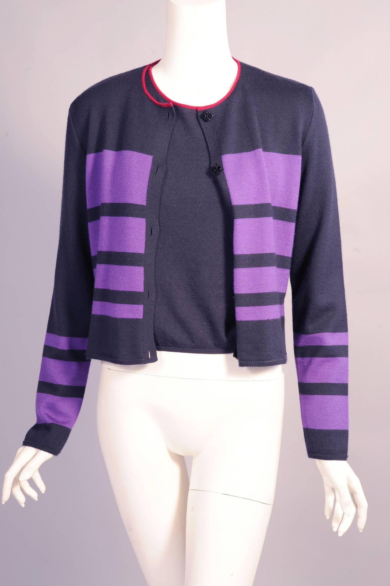 Chanel Cashmere Cardigan and Shell Set 2
