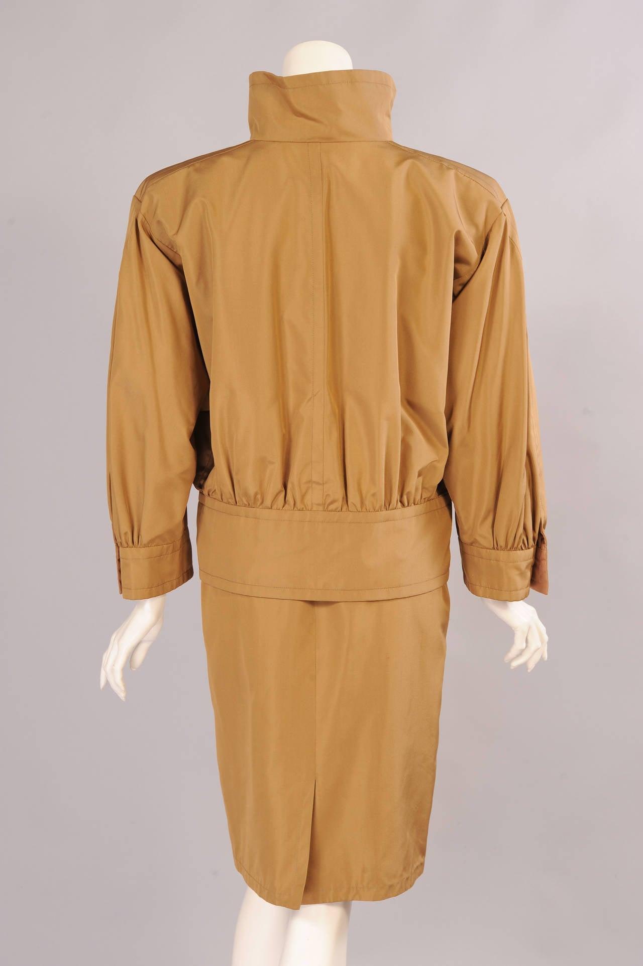 Yves saint laurent haute couture silk safari suit for sale for Haute couture sale