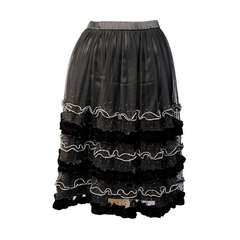Holly's Harp Embellished Tulle Skirt