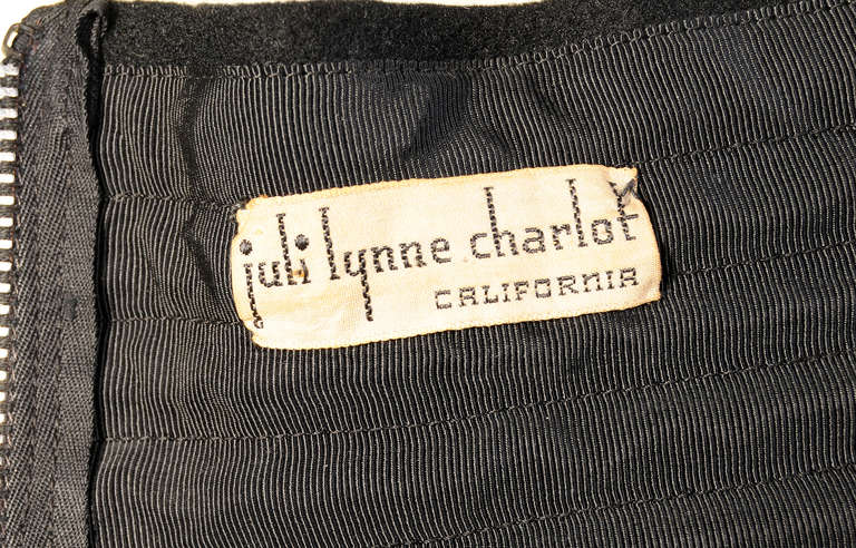 Women's Juli Lynne Charlot Chess Game 1950's Felt Skirt For Sale