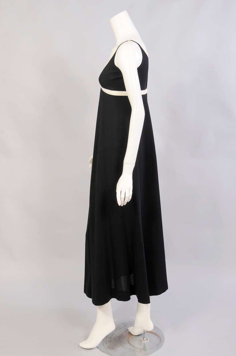 Black 1960's Rudi Gernreich for Harmon Knitwear Dress For Sale