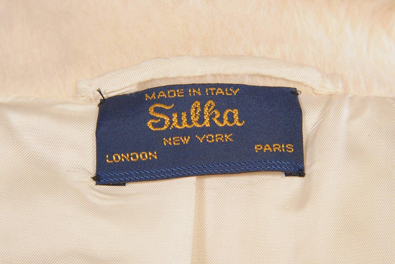 Sulka Cream Alpaca Polo Coat, Never Worn 6