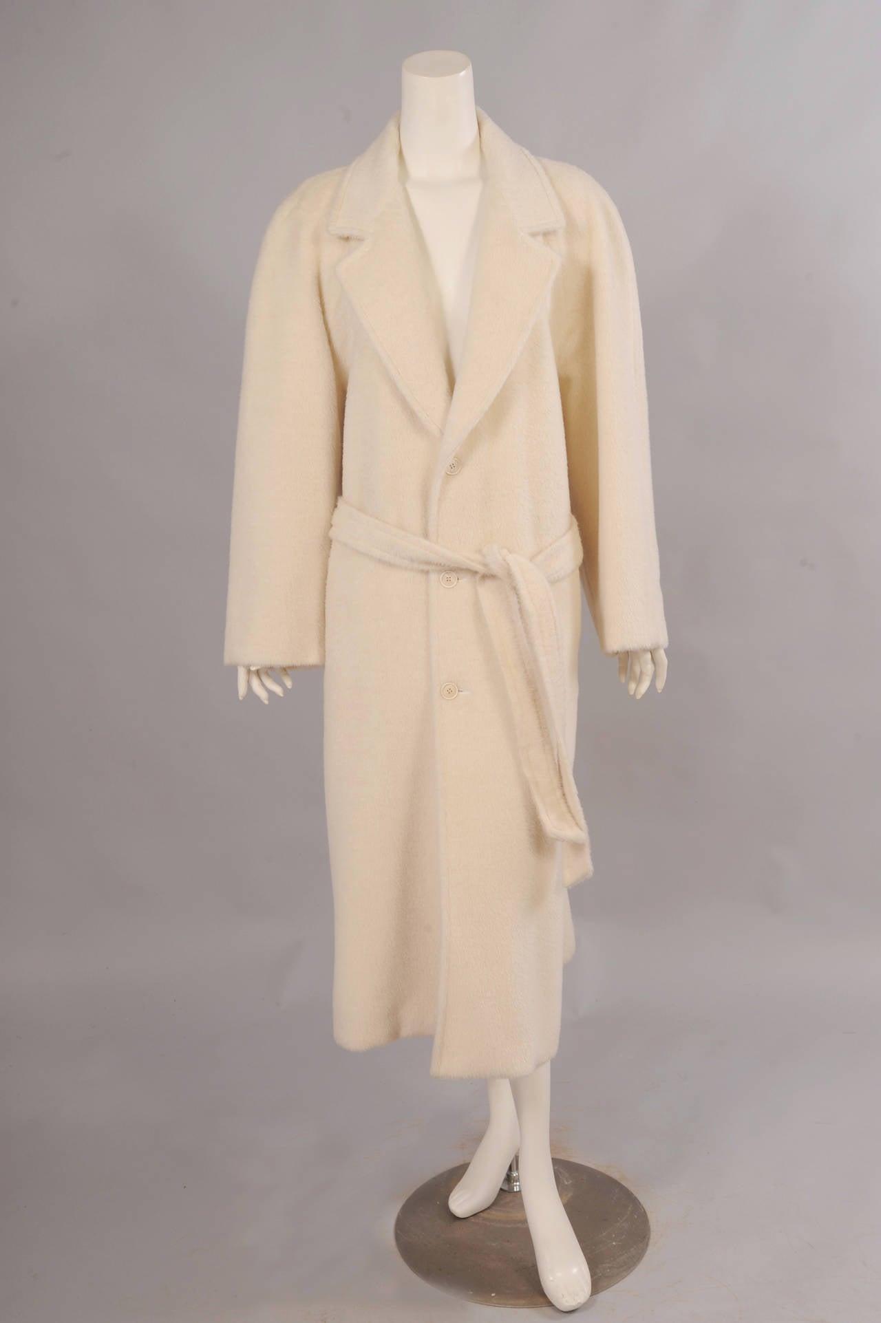 Sulka Cream Alpaca Polo Coat, Never Worn 2