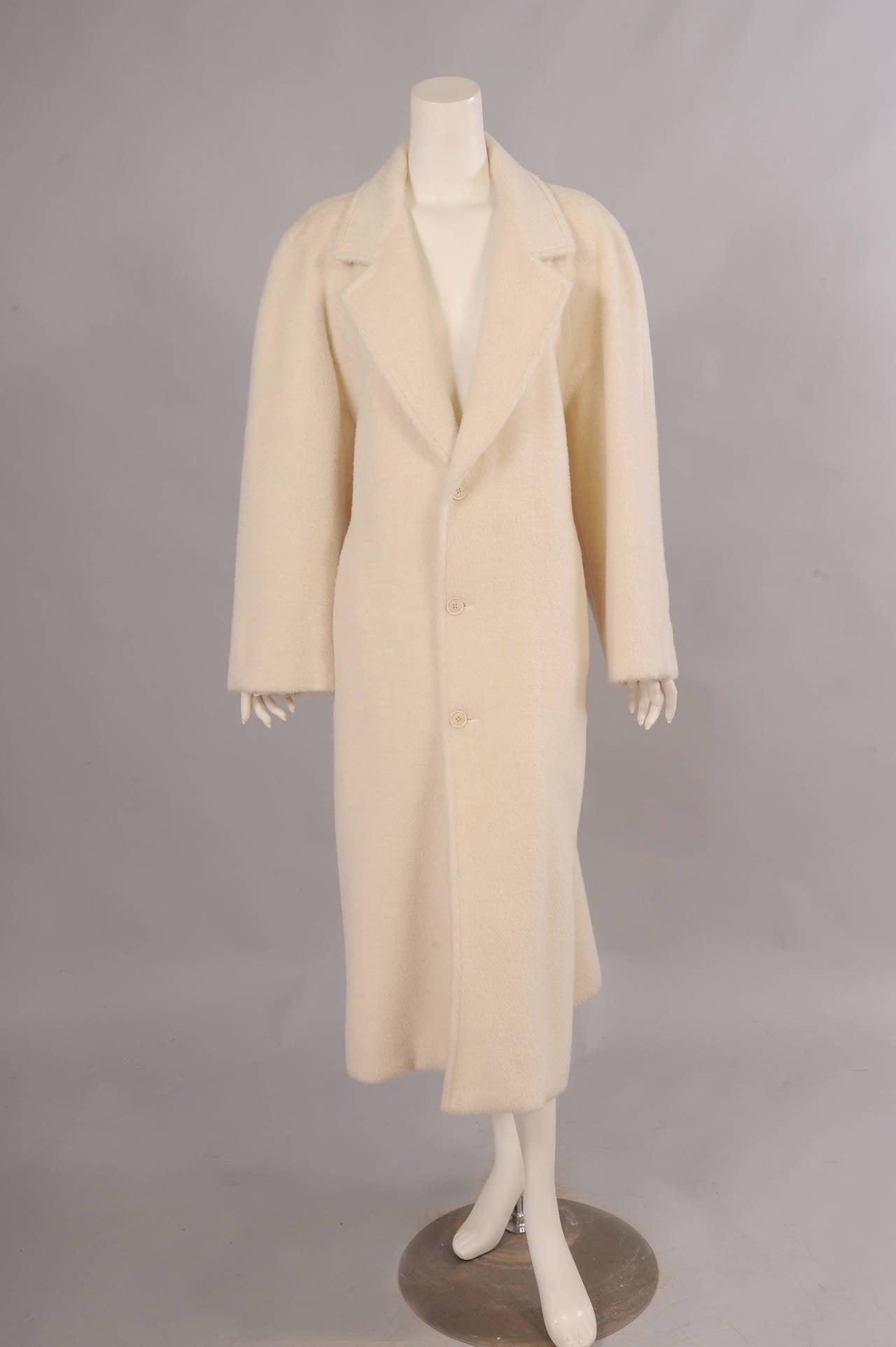Sulka Cream Alpaca Polo Coat, Never Worn 3