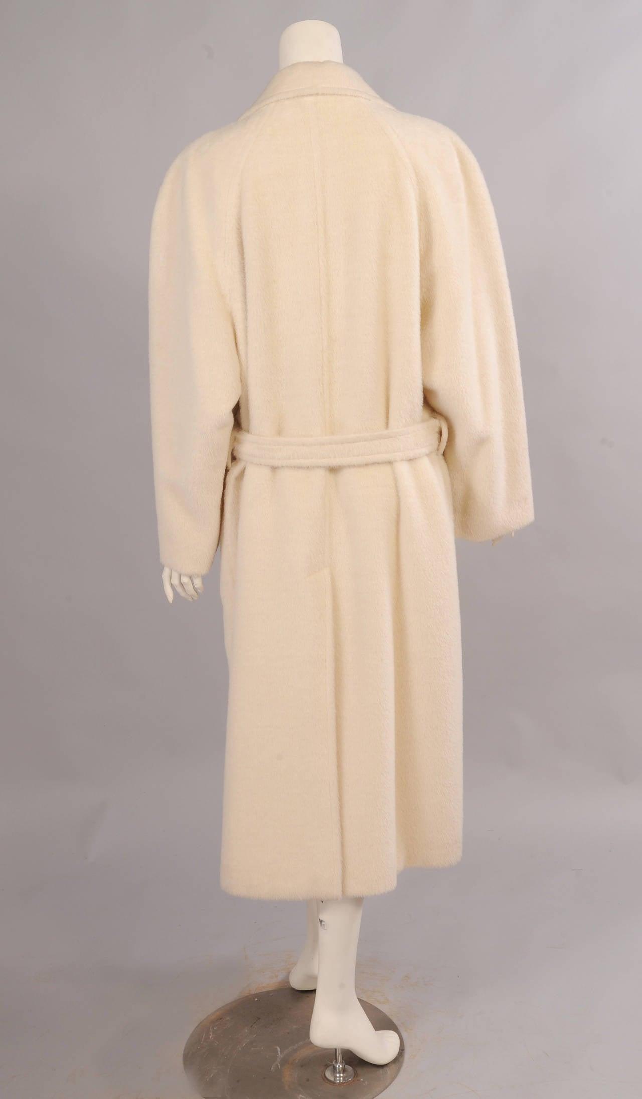 Sulka Cream Alpaca Polo Coat, Never Worn 5