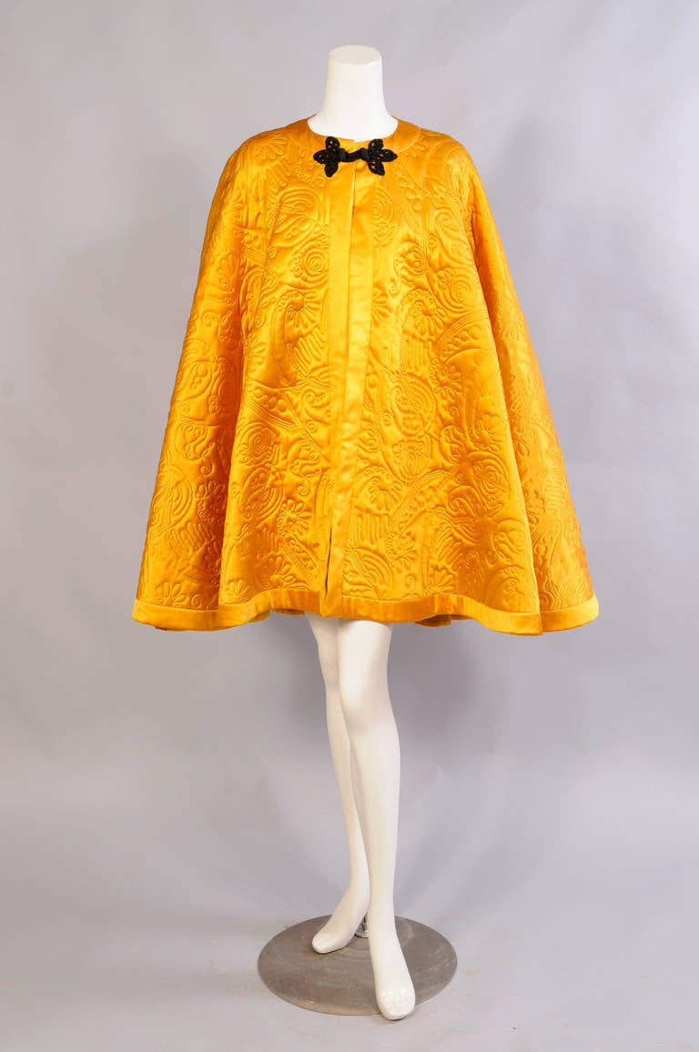 Yves Saint Laurent Quilted Silk Cape 2