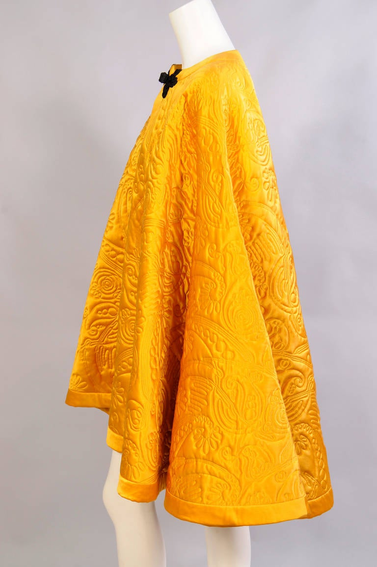 Yves Saint Laurent Quilted Silk Cape 3