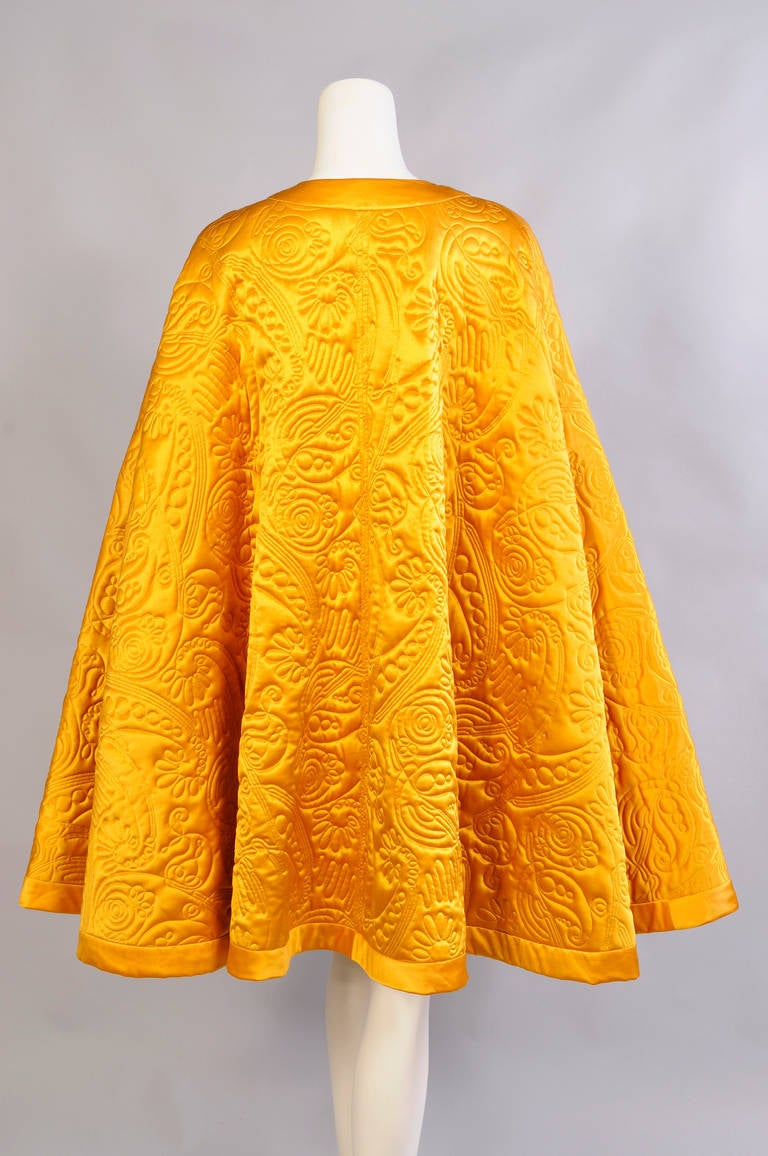 Yves Saint Laurent Quilted Silk Cape 4