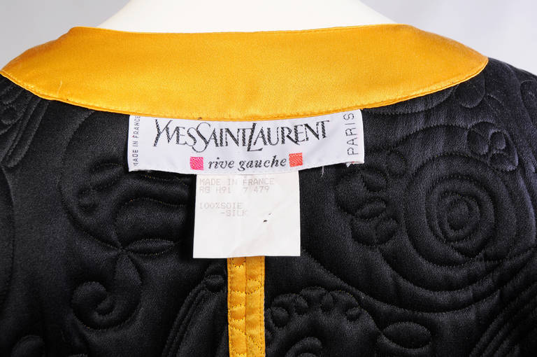 Yves Saint Laurent Quilted Silk Cape 7