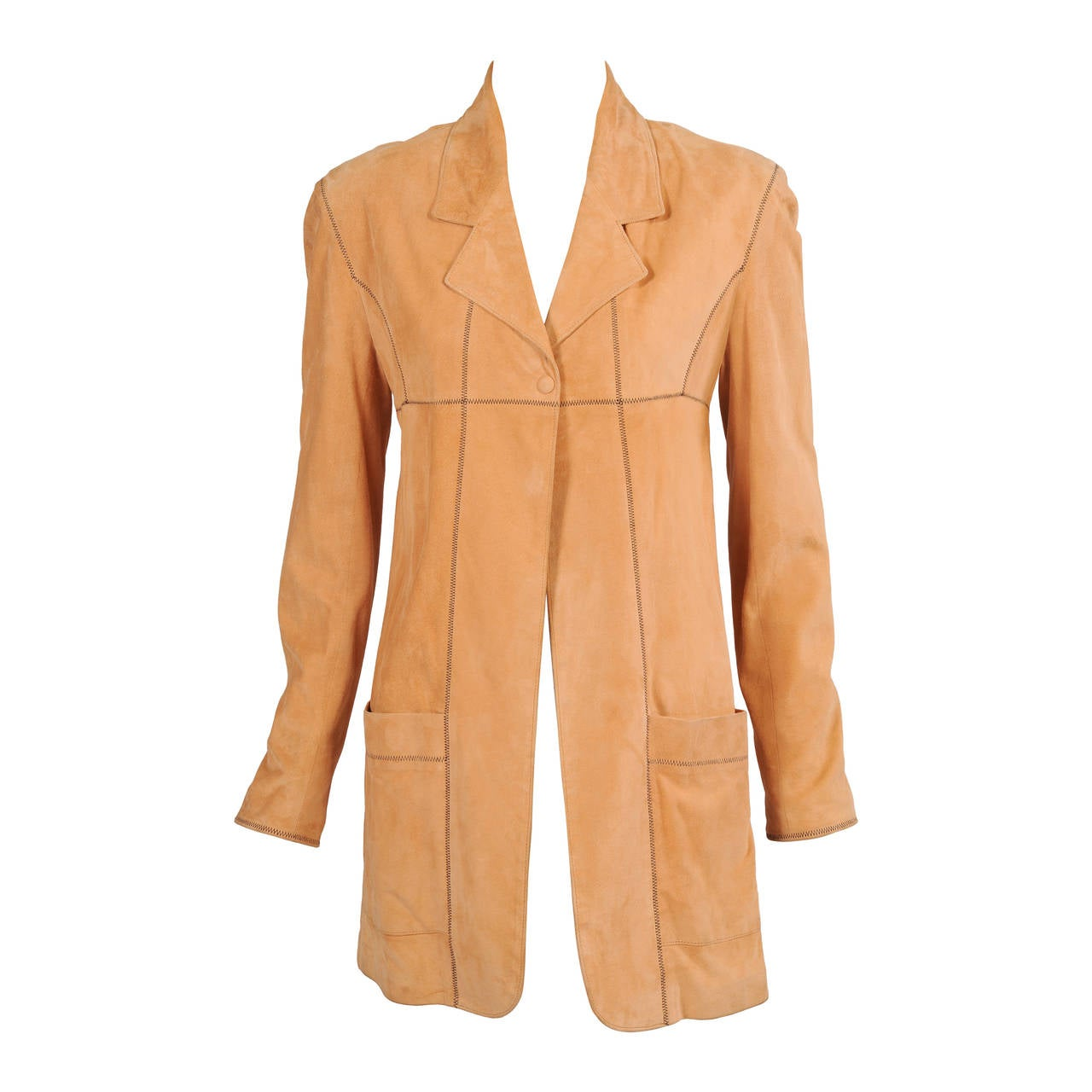 Karl Lagerfeld Butter Soft Caramel Colored Suede Jacket