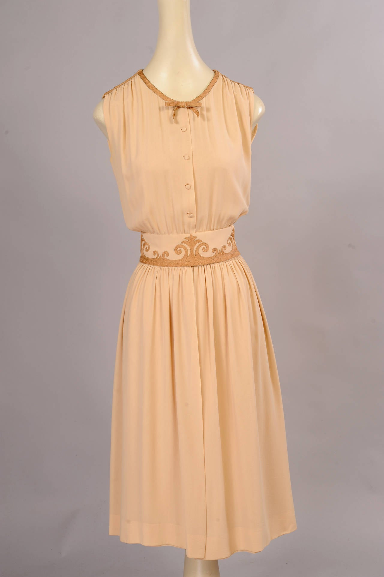 Women's 1970's Chanel Numbered Haute Couture Dress, Jacket & Slip For Sale