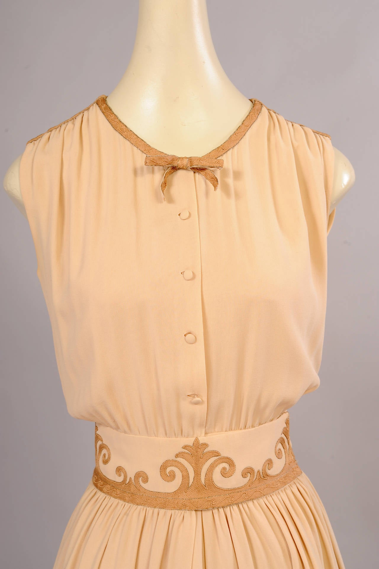 1970's Chanel Numbered Haute Couture Dress, Jacket & Slip For Sale 1