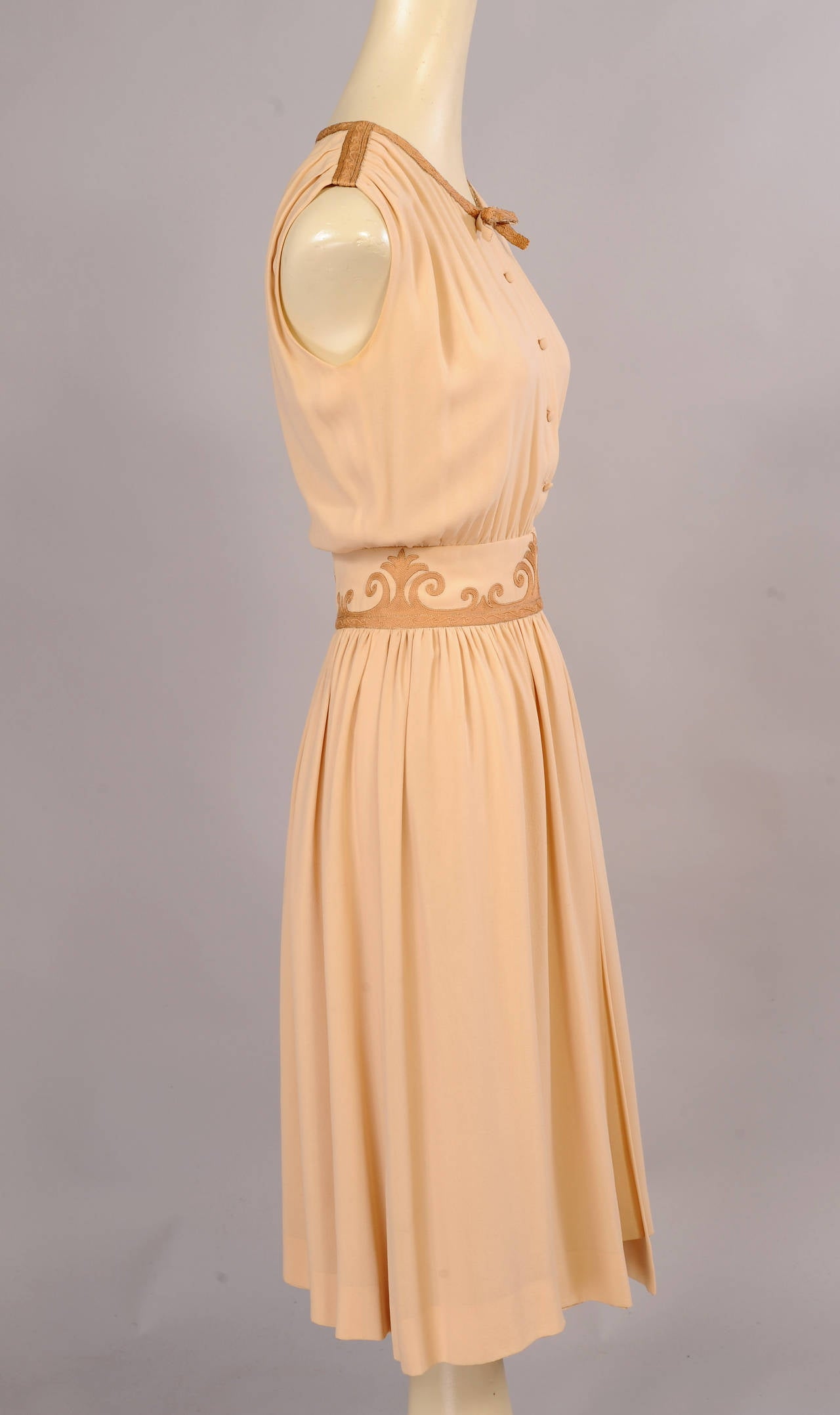 1970's Chanel Numbered Haute Couture Dress, Jacket & Slip For Sale 2