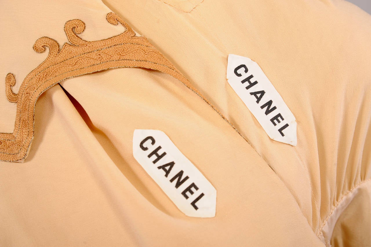 1970's Chanel Numbered Haute Couture Dress, Jacket & Slip For Sale 4