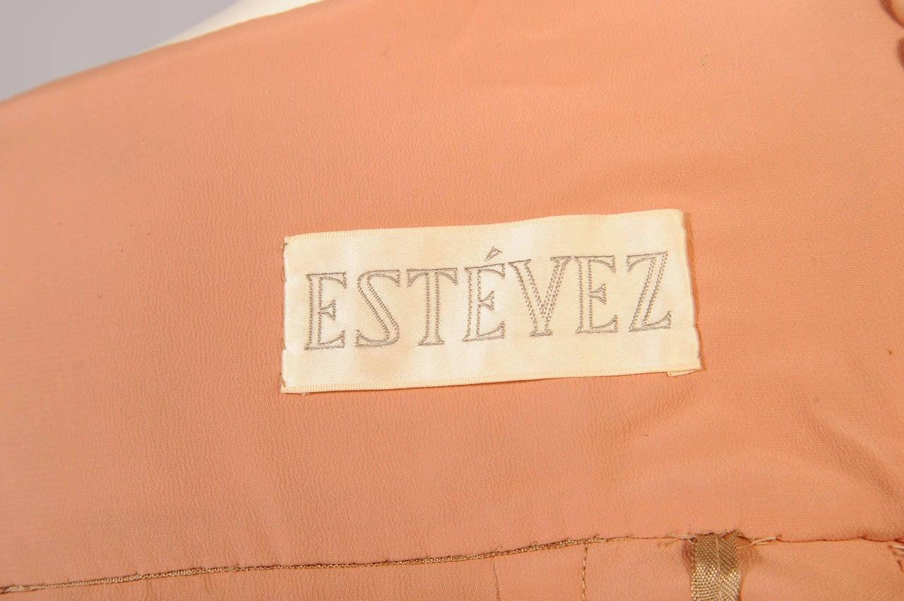 1960's Estevez Gold Lace Dress For Sale 2