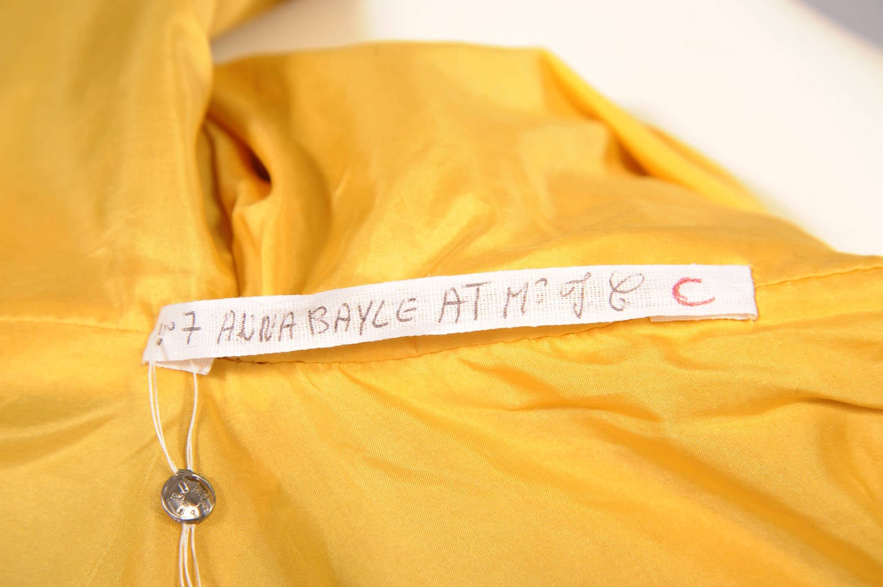 Givenchy Haute Couture Runway Worn Yellow Leather Trench Coat In Excellent Condition For Sale In New Hope, PA