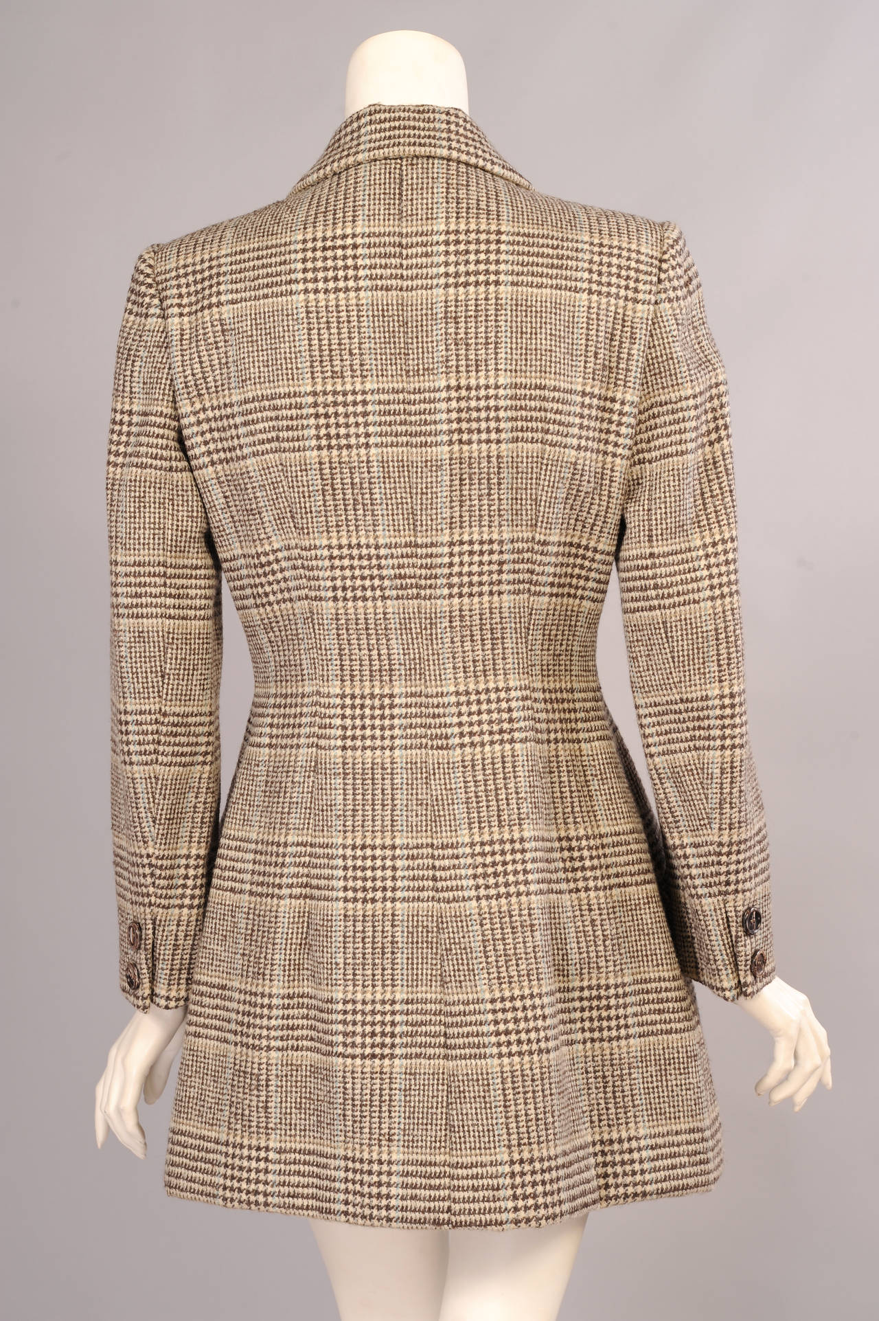 Patou Haute Couture Wool Plaid Jacket by Christian Lacroix, In Excellent Condition For Sale In New Hope, PA