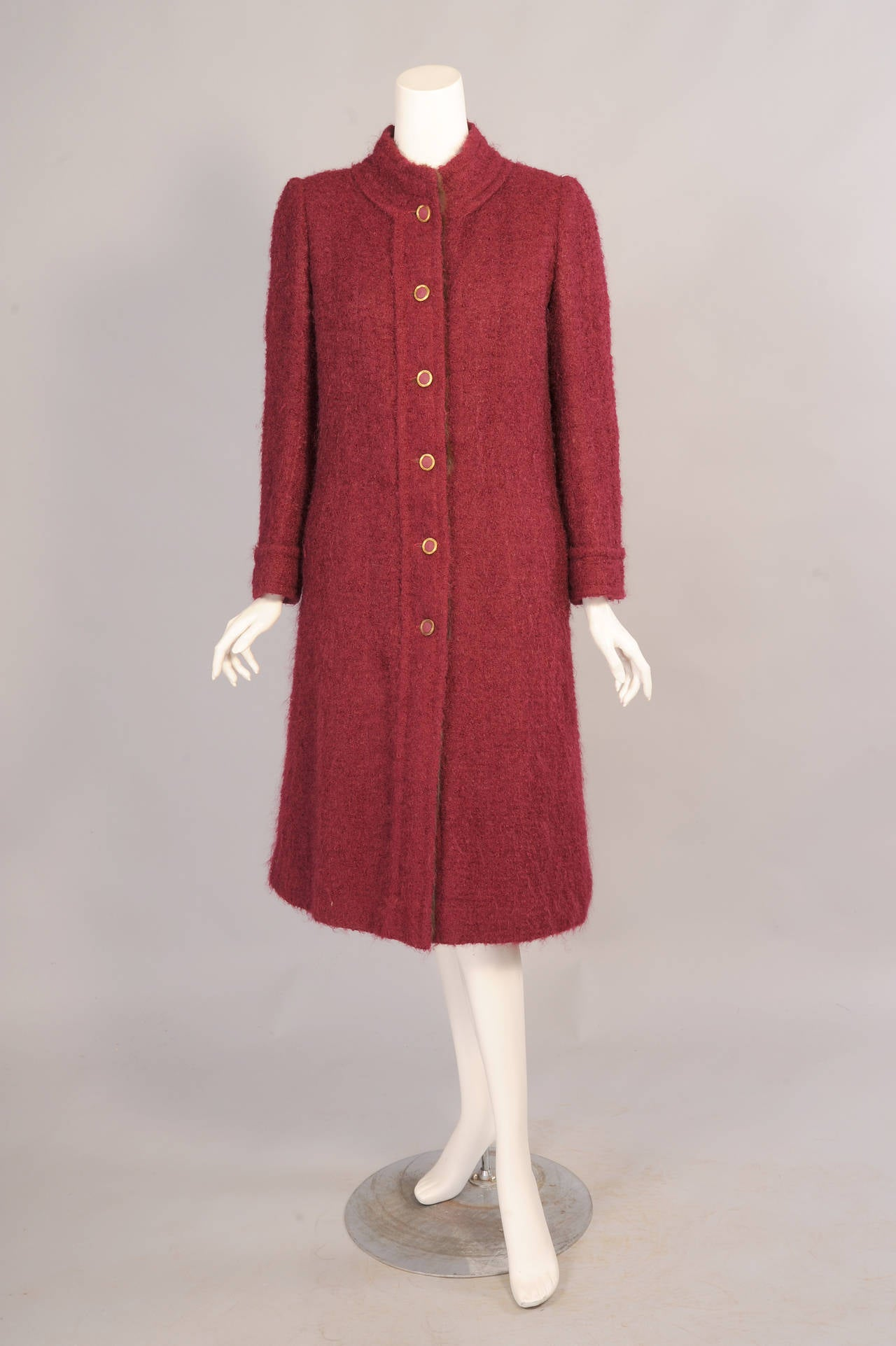 1970 S Chanel Haute Couture Fur Lined Coat And Matching