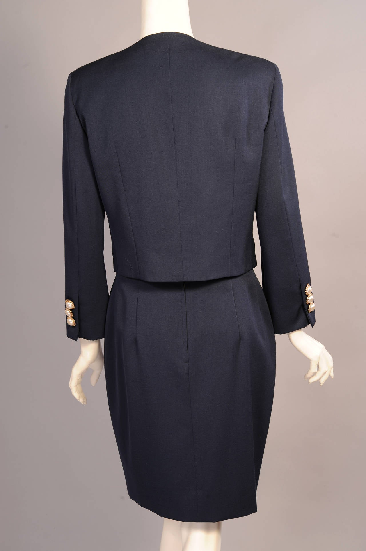 Iconic & Ironic Moschino Couture Suit, Chanel Inspired Suit Pockets For Sale 2