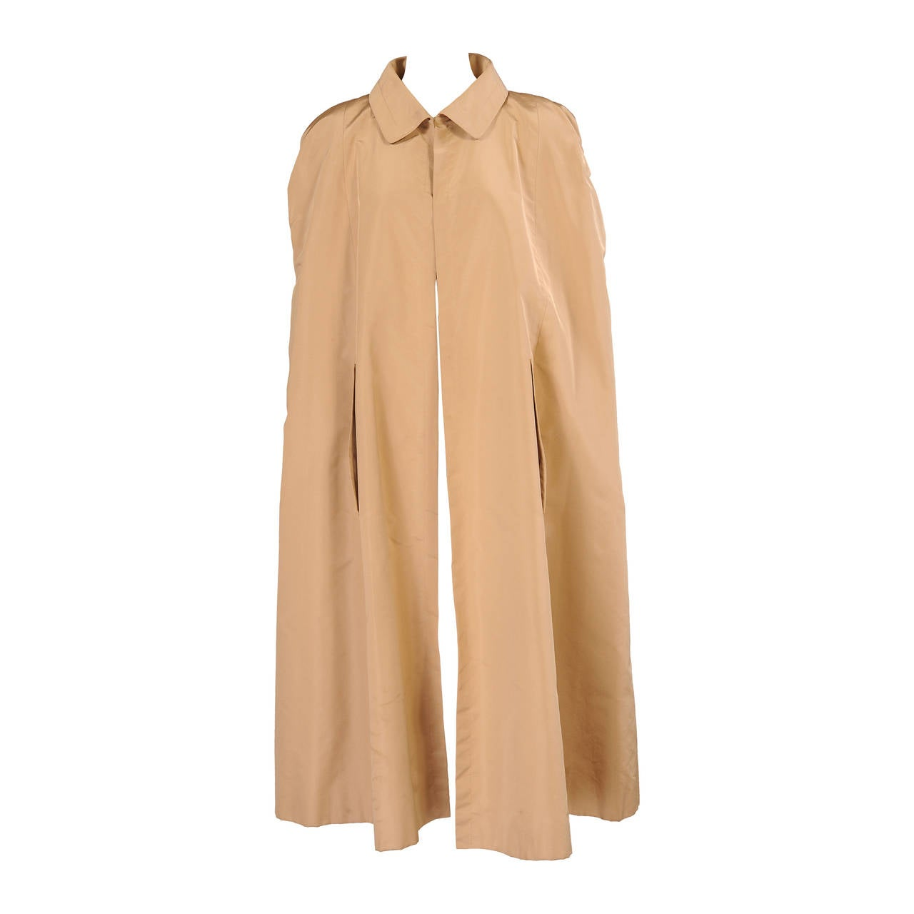 Givenchy Labelled Haute Couture Silk Faille Evening Cape For Sale