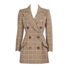 Patou Haute Couture Wool Plaid Jacket by Christian Lacroix,