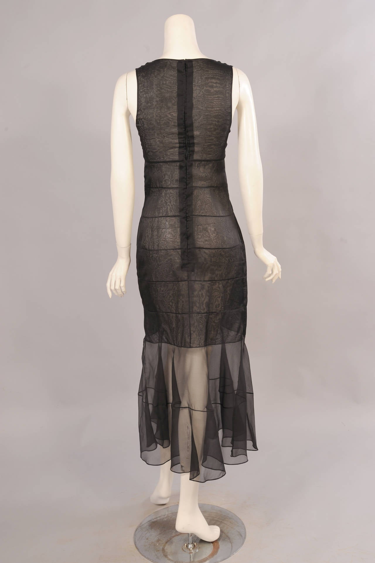 Chanel Haute Couture Sheer Black Silk Dress and Jacket For Sale 2