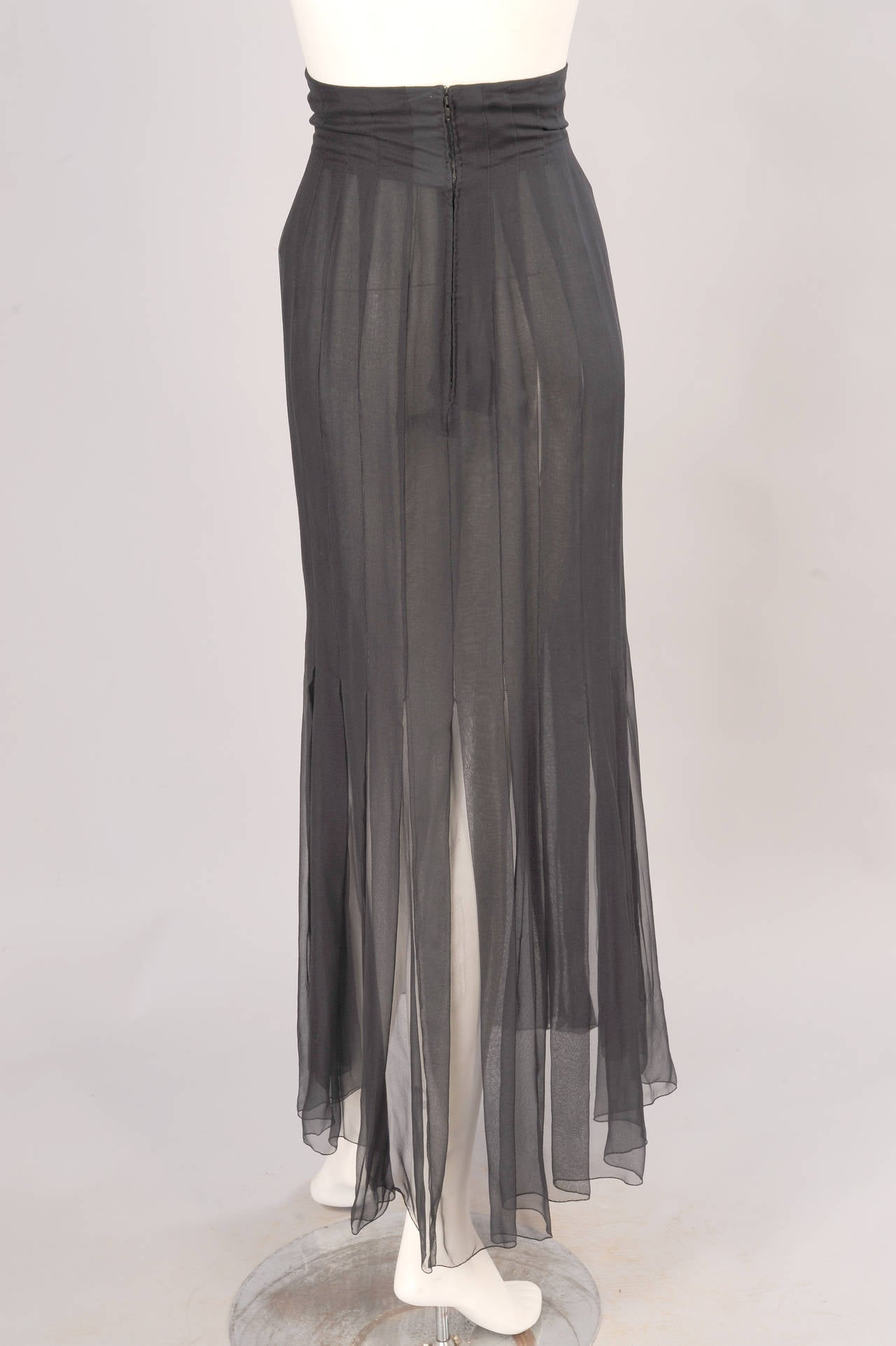 Chanel haute couture black silk chiffon skirt for sale at for Haute couture sale
