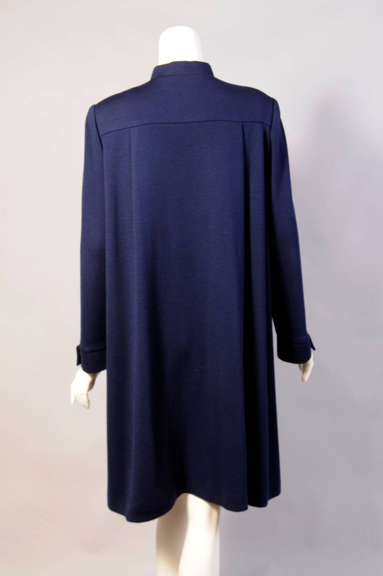 Women's Geoffrey Beene Navy Blue Trapeze Dress Larger Size For Sale