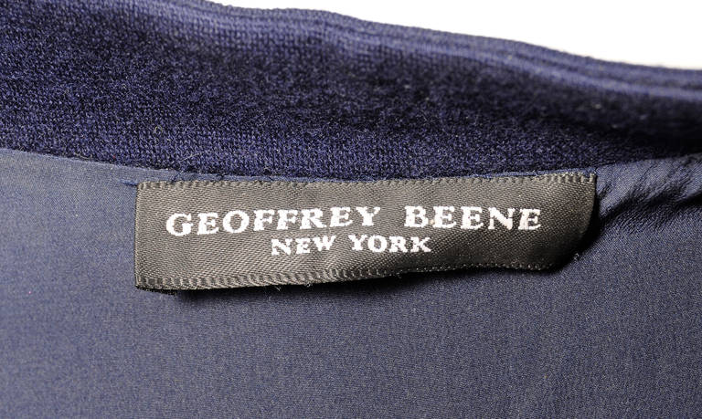 Geoffrey Beene Navy Blue Trapeze Dress Larger Size For Sale 1